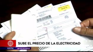 Precios de servicio de electricidad se incrementa en todo el país