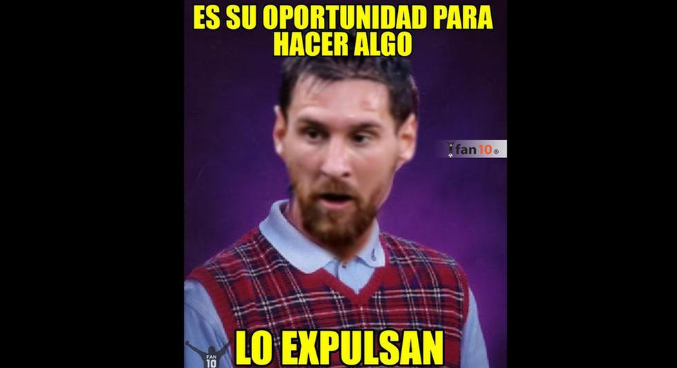 Memes de la expulsión de Messi y Medel en la Copa América 2019.