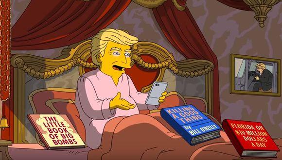 Los Simpson parodian los 100 primeros días de gobierno de Donald Trump.