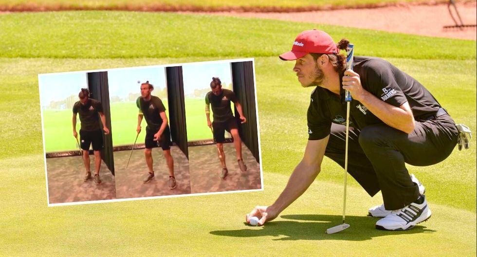 Gareth Bale domina pelota de golf durante cuarentena por coronavirus