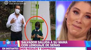 Hijo de Sofía Franco conmueve a todos con saludo de cumpleaños en lenguaje de señas