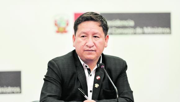 Expresidente del Consejo de Ministros, Guido Bellido.