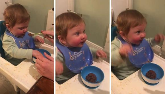 Muchos quedaron conmovidos al ver la reacción de la pequeña. (Foto: Caters Clips   YouTube)