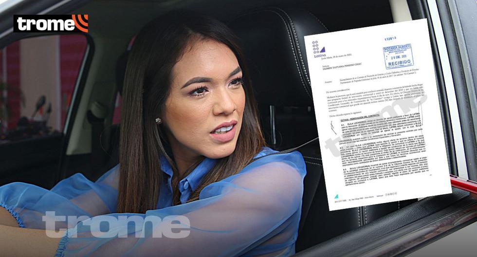 Latina le envió carta notarial a Jazmín Pinedo exigiéndole que devuelva 100 mil soles por irse a EEG