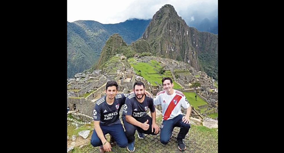 Hinchas River Plate y Flamengo