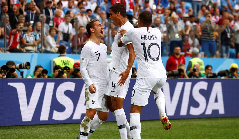 Uruguay vs Francia EN VIVO EN DIRECTO ONLINE TV Por los cuartos de final de Rusia 2018   Gol Varane