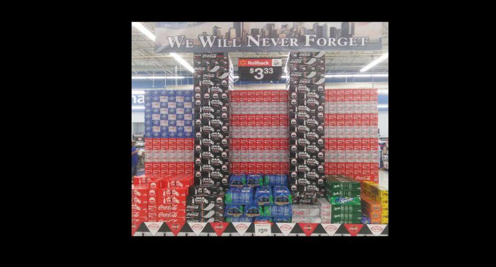 """La polémica publicidad de Coca-Cola al """"conmemorar"""" el 11 de septiembre."""