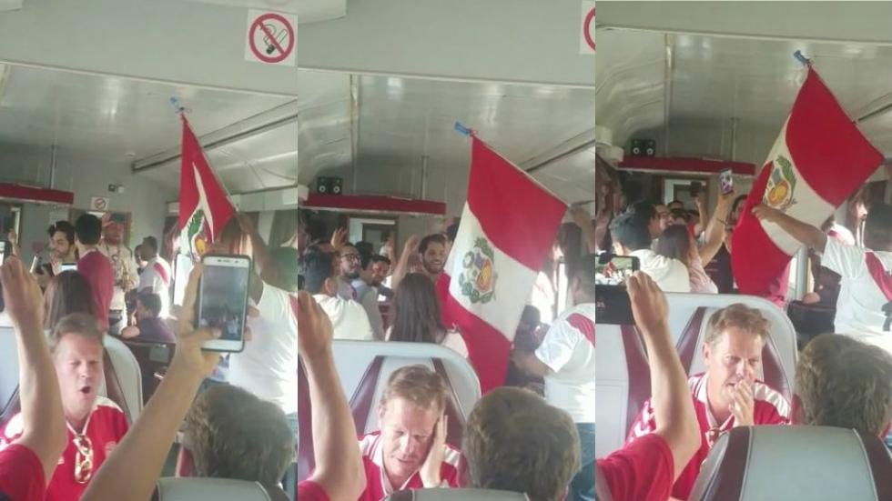 Rusia 2018: Hinchas peruanos y daneses viajaron en el mismo tren y esto fue lo que sucedió