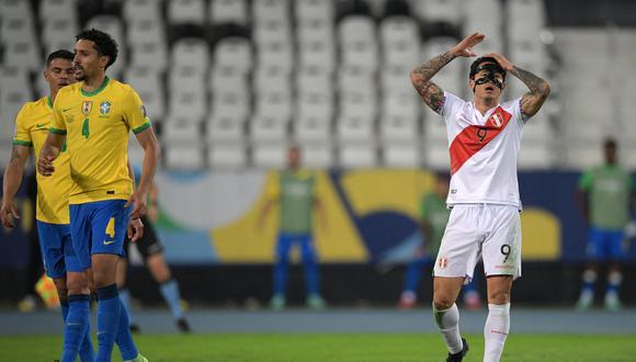 Perú perdió 1-0 con Brasil en la primera semifinal de la Copa América y luchará por el tercer puesto (Foto: AFP)