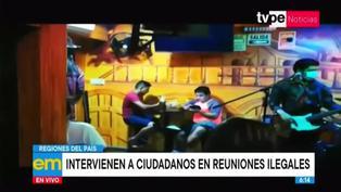 Coronavirus: intervienen a ciudadanos en fiestas clandestinas en diferentes regiones del Perú