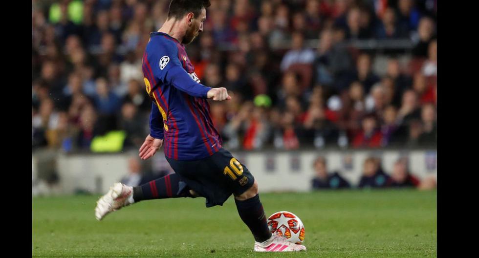 Lionel Messi y su GOLAZO de tiro libre en Barcelona vs Liverpool. (Fotos: Agencias)