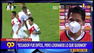 """Fue un partido muy difícil"", Gianluca Lapadula tras empate"