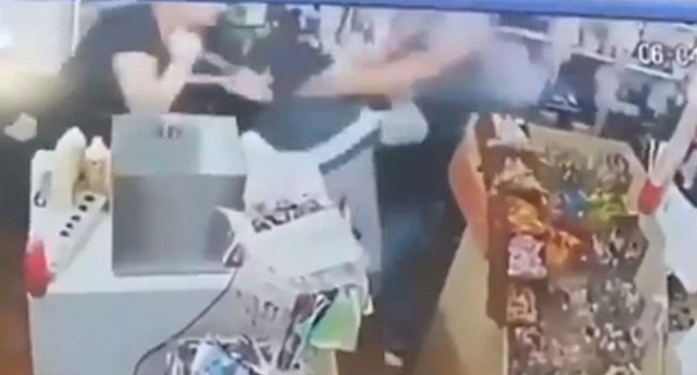 Dueña de minimarket se resiste a robo de su negocio y termina apuñalando a ladrón