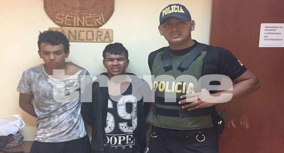 Cinco colombianos cayeron en Máncora. (Foto: Trome)