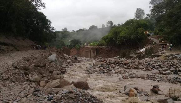 Los huaicos productos de las fuertes lluvias podrían afectar a 45 mil habitantes en la sierra norte. (Foto: GEC)