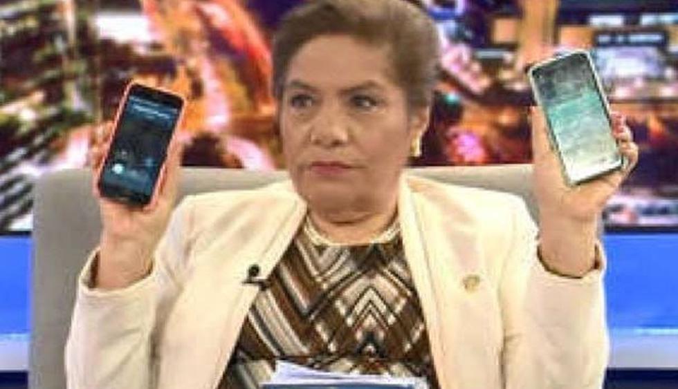 Luz Salgado denuncia 'chuponeo' de sus celulares pero en realidad se trataba de una sincronización