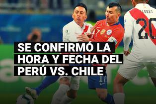 Se confirmó la fecha y hora del Perú vs. Chile por la jornada 3 de las Eliminatorias Qatar 2022