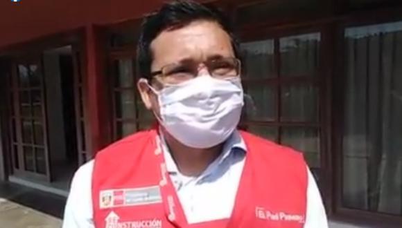 Ángel Miguel Pérez Santacruz fue denunciado por agredir físicamente a una comunicadora social. (Foto: Captura Facebook del Gobierno Regional de Lambayeque)