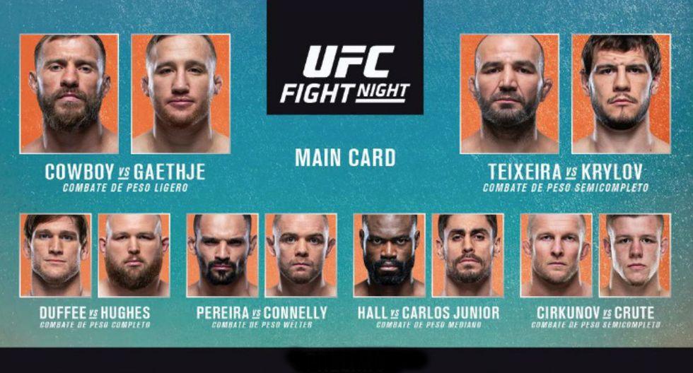 Tendremos un vibrante duelo entre 'Cowboy' Cerrone y Justin Gaethje. (UFC)