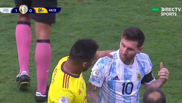 Frank Fabra le pidió su camiseta a Lionel Messi en pleno partido Argentina vs Colombia por Copa América 2021.