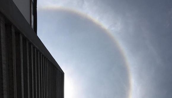 El halo solar se habría visto en los demás distritos del este, además de La Molina. (Foto: Senamhi)
