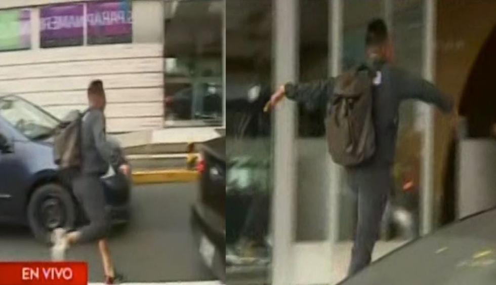 Christian Cueva saltó valla en el aeropuerto (Fuente: América Televisión)