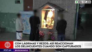 Delincuentes lloran, ruegan y hasta rezan a todos los santos para que policía no los meta presos | VIDEO