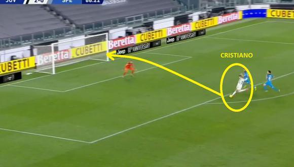 Cristiano Ronaldo llegó a los 20 goles en la presente temporada con Juventus por Serie A
