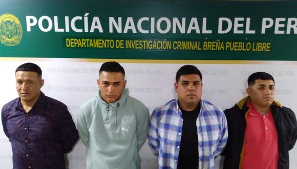 Sujetos fueron capturados tras persecución en calles de Breña.
