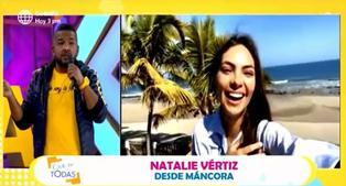 Natalie Vértiz no aparece este sábado en Estás en Todas por problemas con vuelo y se deja ver en Máncora