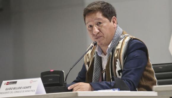 Presidente del Consejo de Ministros, Guido Bellido.