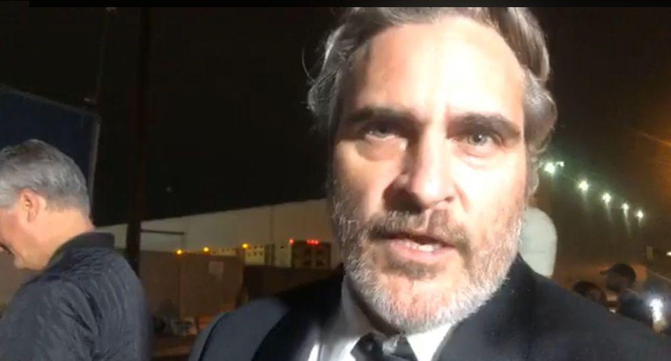 Tras ganar el galardón a Mejor actor en los Premios SAG, Joaquin Phoenix visitó un matadero de cerdos para protestar contra el sufrimiento animal. (Foto: Captura de video)
