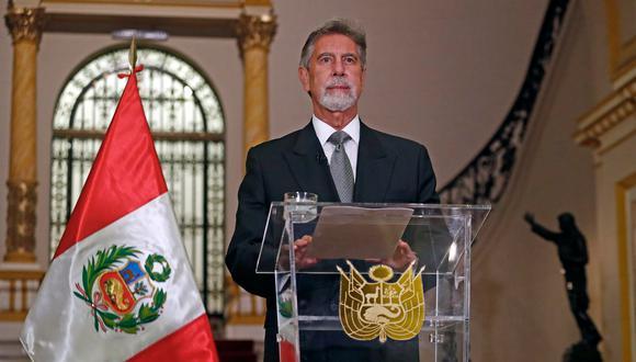 El presidente Francisco Sagasti dio un mensaje a la Nación a dos días de las elecciones. (Foto: Archivo de Twitter @presidenciaperu)