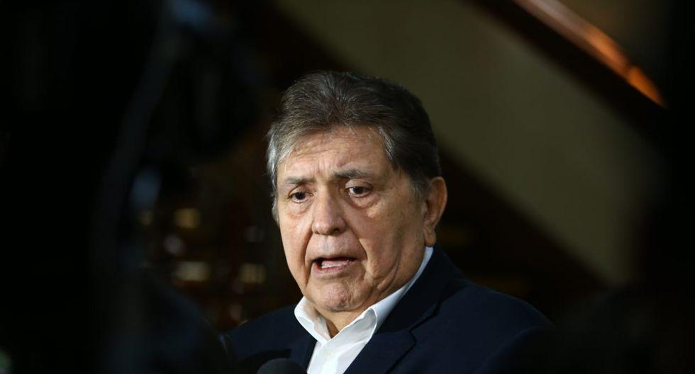 """""""Nada hay de lo que deba reprocharme, a diferencia de otros ex presidentes o personas a los que se ha probado malas acciones"""", señaló García Pérez. (Foto: GEC)"""