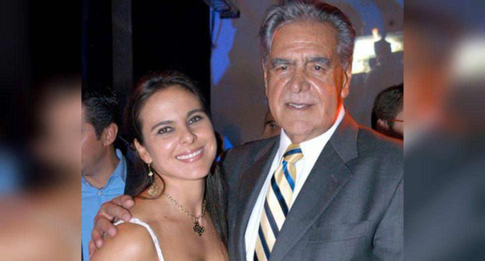 Kate del Castillo y su padre, el primer actor Eric del Castillo.