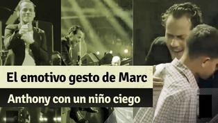 Marc Anthony tuvo emotivo gesto con niño con discapacidad visual durante su concierto en Nueva York