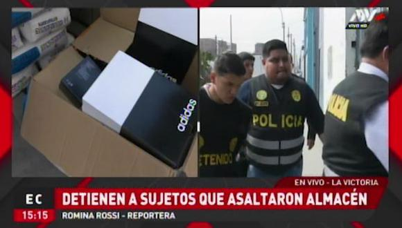 La Policía capturó a cuatro delincuentes en pleno asalto. (ATV+)