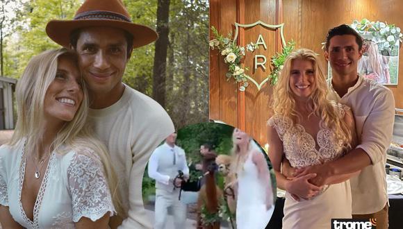 Rodrigo Fernandini se casó con su novia Abi Ferro en Estados Unidos