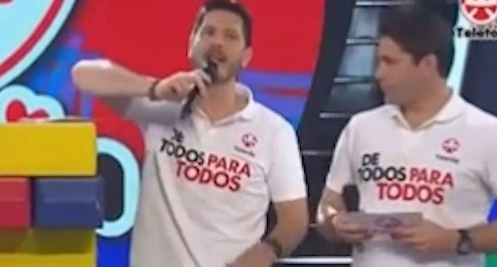 Vanessa Terkes y Cristian Rivero reaccionan así con hombre que donó 1 sol a la Teletón 2019