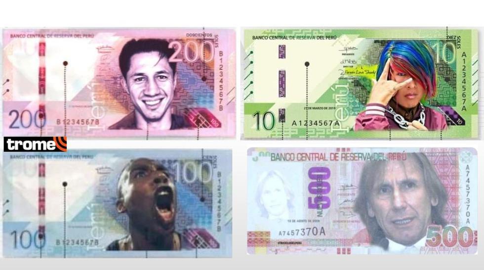 Memes piden que 'Cuto', Lapadula y Faraón Love Shady aparezcan en nuevos billetes de 10 y 100 soles
