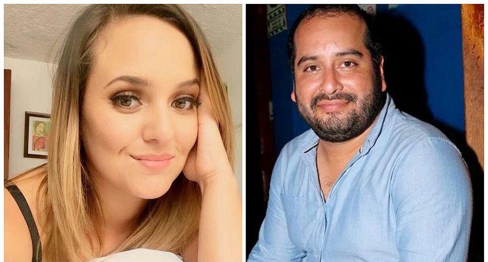 Carla Tello y su ex Junior Silva.