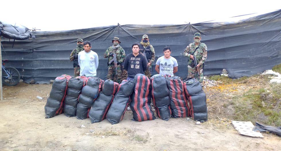 La Libertad: la mayor incautación se realizó en la provincia de Sánchez Carrión, donde se hallaron 460 kilos de marihuana camuflada en sacos de papa.
