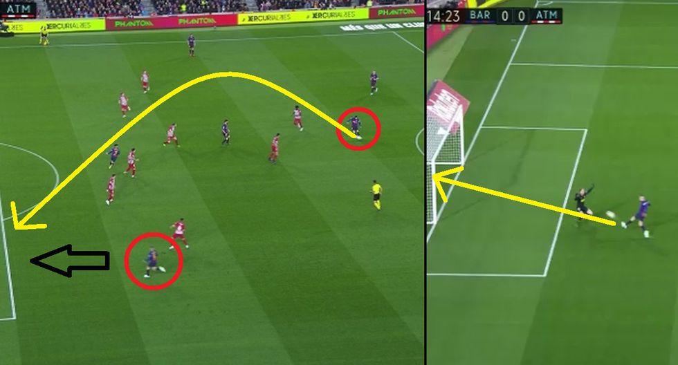 Lionel Messi: Asistencia de gol burló a todos pero Jordi Alba la desperdició en el Barcelona vs Atlético Madrid