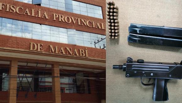 Fiscalía ecuatoriana compartió una foto del arma en Twitter. (Foto: Captura Twitter   Fiscalía Ecuador)