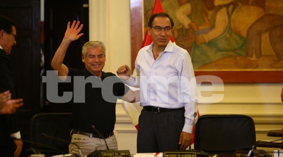Martín Vizcarra tras conocer resultados a boca de urna del Referéndum (Fotos: Jesús Saucedo)