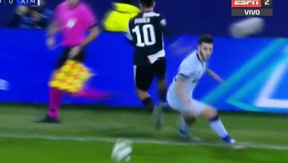 La extraordinaria jugada de Paulo Dybala. (ESPN)