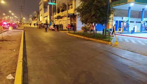 Realizan operación para para evitar el comercio informal de ambulantes, camiones de carga y descarga en el distrito de San Luis. (Foto: Municipalidad de San Luis)