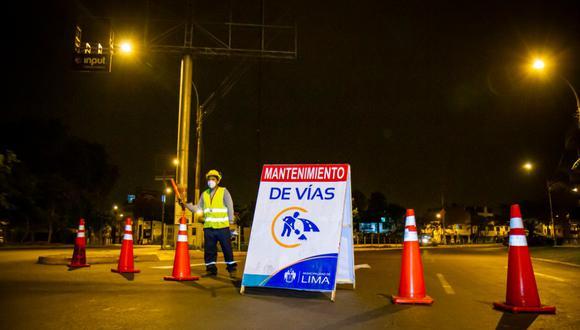Desvíos se aplicarán desde esta noche entre las 10 p.m. y 5 a.m. (Foto: MML)