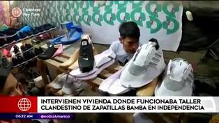 Intervienen casa usada como taller clandestino de zapatillas en Independencia