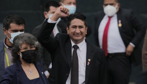 Cerrón, líder de Perú Libre, convocó a una movilización para este jueves 26, día en que el pleno recibirá al gabinete ministerial para el voto de investidura. (Foto: Leandro Britto/GEC)